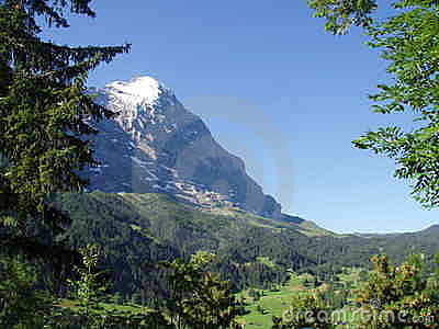 Eigerview from Grindelwald Switzerland