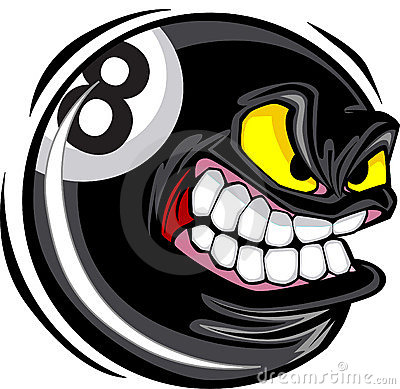 Eight ball Face Vector Image