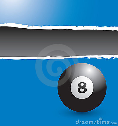 Free Eight Ball On Blue Ripped Banner Stock Image - 10979771