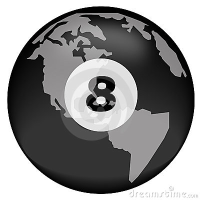 Eight ball over earth