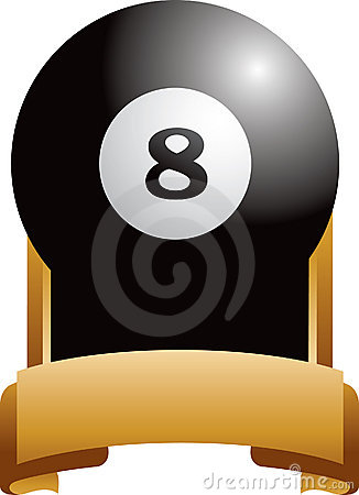 Free Eight Ball Trophy Royalty Free Stock Image - 8993656