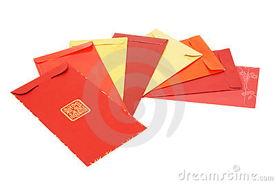 Eight Chinese new year red packets