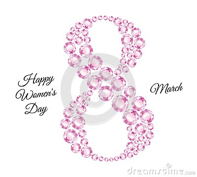 Free Eight Composed Of Pink Diamonds And Congratulations Royalty Free Stock Images - 51749489