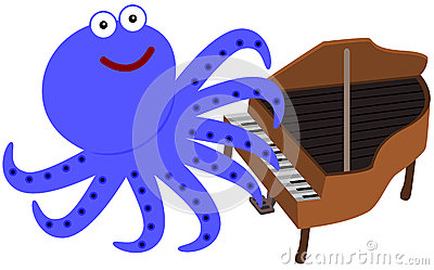 Eight legs and a piano