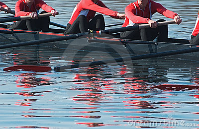 Eight Oar Sweep Boat Team