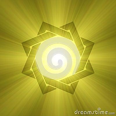 Eight point star symbol sunlight flare