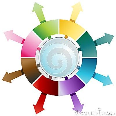 Eight Step Arrow Compass Chart