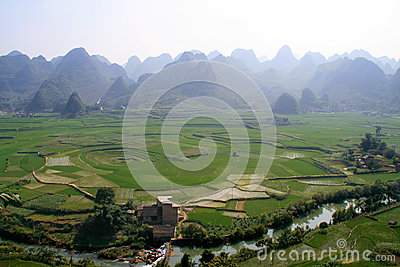 Eight-trigram cropland,Xingyi,China