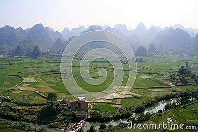 Eight-trigram cropland,Xingyi,China