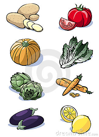 Eight vegetables - Colors