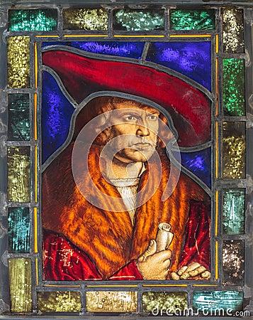 Eighteenth century stained glass window