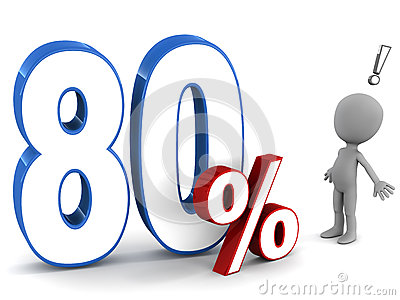 Eighty percent