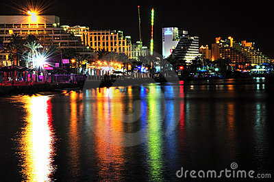 Eilat by night.