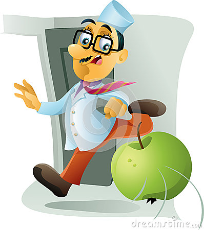 Ein Apple ein Tag hält den Doktor Away