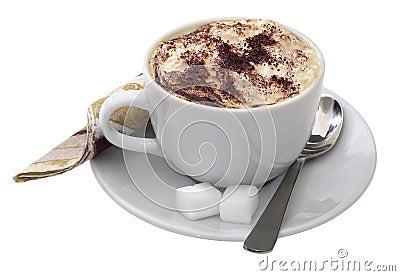 Ein Cup von Cappucino