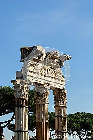 Ein Monument in Rom Italien