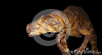 Ein Dinosaurier auf dem Prowl