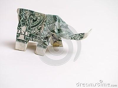 ein elefant dollarschein origami stockfoto bild 24780110. Black Bedroom Furniture Sets. Home Design Ideas