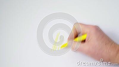 Ein farbiges Gekritzel stock video footage