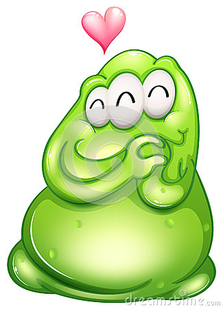 Ein Inliebe greenslime Monster