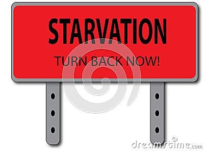 Verhungern-Zeichen-Konzept