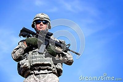 Ein US-Soldat