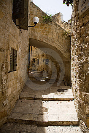 Eine Gasse in der alten Stadt von Jerusalem