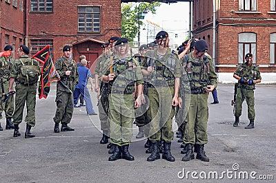 Eine Gruppe von Marinesoldaten Redaktionelles Stockfoto