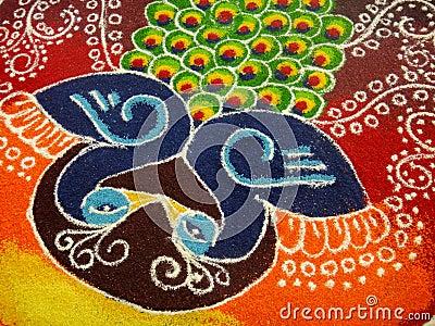 Eine Indische Dekoration Lizenzfreies Stockbild Bild