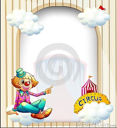 Eine leere Eingang ähnliche Schablone mit einem Clown