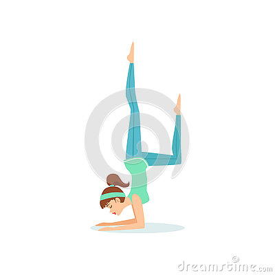 Eine Mit Beinen Versehene Yoga-Haltung Krähe Eka Pada Bakasana ...