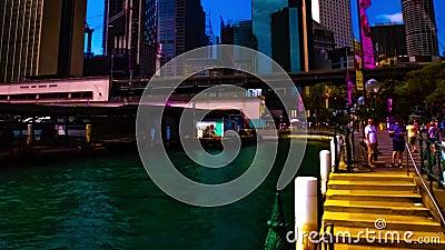 Eine Tmelapse des Bajordes am Circular Quay in Sydney-weiten Schneeballpanning stock video footage