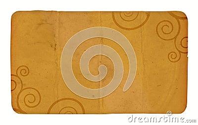 Eine Weinlese-Karte mit Spiralen