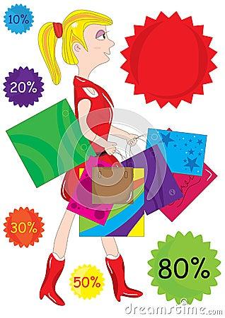 Einkaufen-Mädchen