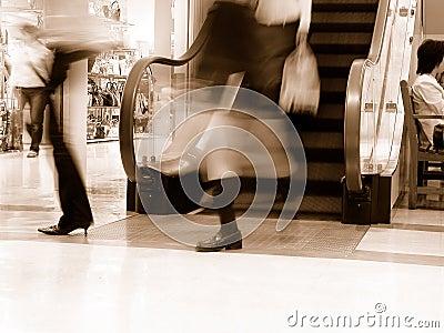 Einkaufen-Sepia