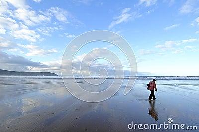 Einsam auf Strand