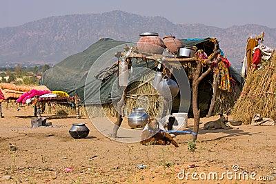 einsames haus in der w ste indien lizenzfreie stockfotografie bild 31234787. Black Bedroom Furniture Sets. Home Design Ideas