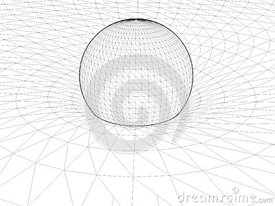 Einstein s Wire Net General Theory Of Relativity Structure Vector 01