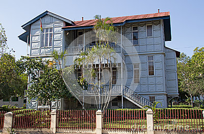 Eisen-Haus in Maputo, Mosambik