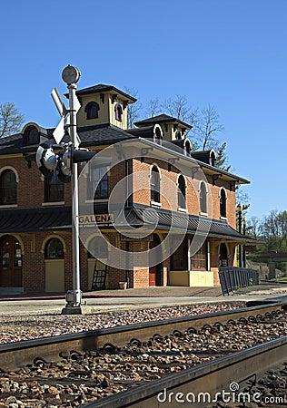 Eisenbahn-Depot