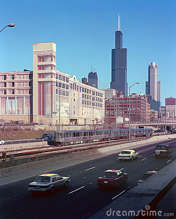 The Eisenhower Expressway Chicago Illinois USA
