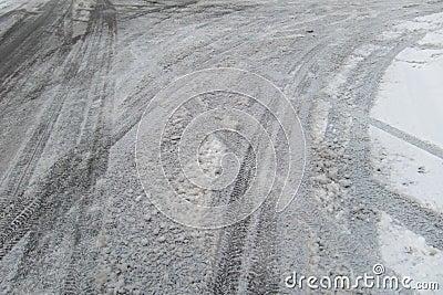 Eisige Straßen