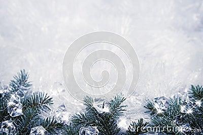 Eisiger Hintergrund