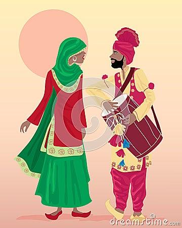 Ejecutantes del Punjabi