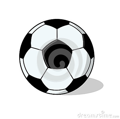 Ejemplo aislado de la bola del fútbol