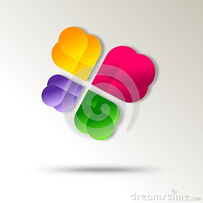 Diseño abstracto del icono