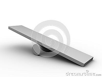 Vacie el tablero de la escala