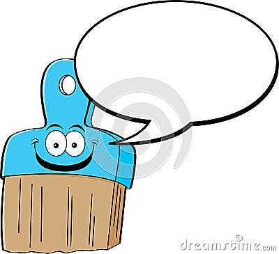 Brocha de la historieta con un globo del encabezamiento
