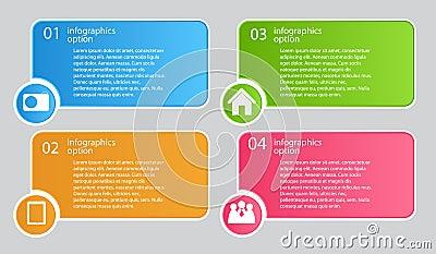 Ejemplo del vector de la plantilla del negocio de Infographic