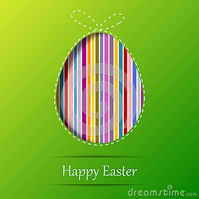 Huevo de Pascua. Tarjeta de felicitación